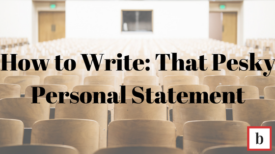 Personal statement title