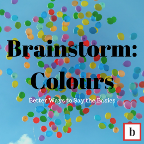 Brainstorm: Colours