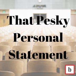 That Pesky Personal Statement: Discussion