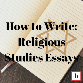 How To Write: Religious Studies Essays